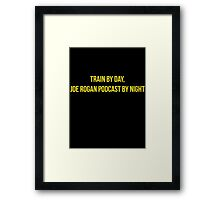 Train by day, Joe Rogan podcast by night - Nick Diaz Framed Print