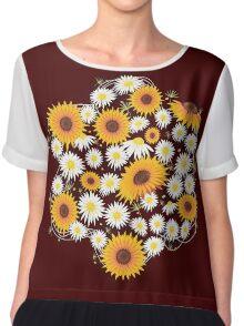 Sunflower Daisy Flower T-shirt Chiffon Top
