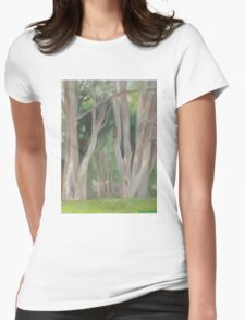 Vermont, shady trees Womens Fitted T-Shirt