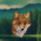 small fox triangular pixels by amadreamart