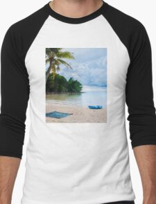 Beautiful tropical beach Men's Baseball ¾ T-Shirt