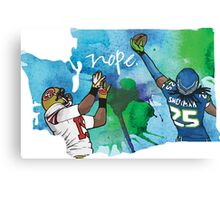 Sherman tips Crabtree Canvas Print