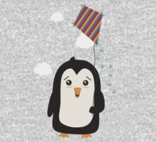 Penguin with Kite One Piece - Long Sleeve