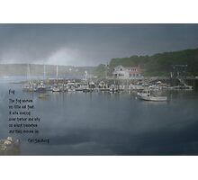 Foggy Coast Of Maine II Photographic Print