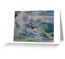 Panda Surfer Greeting Card