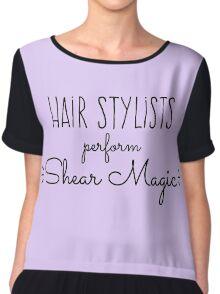 Hair Stylists Perform Shear Magic Chiffon Top