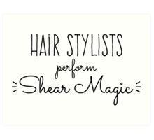 Hair Stylists Perform Shear Magic Art Print