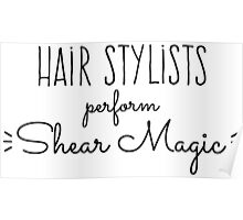 Hair Stylists Perform Shear Magic Poster