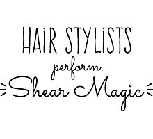Hair Stylists Perform Shear Magic Photographic Print