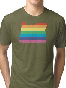 rainbow oregon Tri-blend T-Shirt