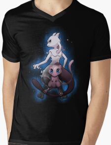Mew - Mewtwo - Pokemon Go Mens V-Neck T-Shirt