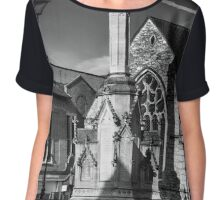 St Benedict's church in Lincoln Chiffon Top