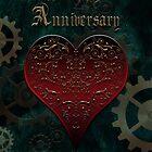 Owl Filigree Steampunk Fairytale Anniversary Card ~ Zombie Apocalypse Green Version by Sam Stormborn Ormandy