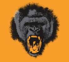 Silver Back Gorilla Scream by Eric Strange