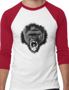 Silver Back Gorilla Scream Men's Baseball ¾ T-Shirt