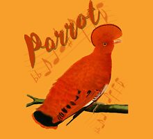 Orange Parrot,Dictionary Art,Vinatge Design Womens Fitted T-Shirt