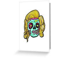 Marilyn: Pop Art Zombie Greeting Card