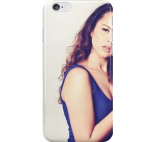Fashion portrait of beautiful hippie young woman iPhone Case/Skin