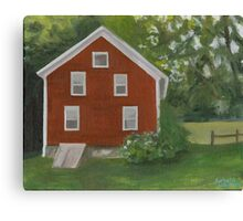 Vermont, red house Canvas Print