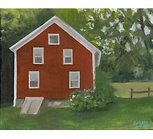 Vermont, red house Photographic Print