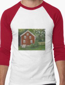 Vermont, red house Men's Baseball ¾ T-Shirt