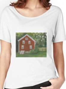 Vermont, red house Women's Relaxed Fit T-Shirt