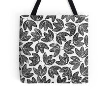 Lino cut printed pattern, nature inspired, handmade, black and white Tote Bag
