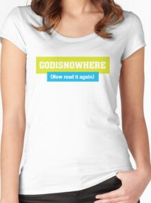 God is Now Here - Christian T Shirt Women's Fitted Scoop T-Shirt