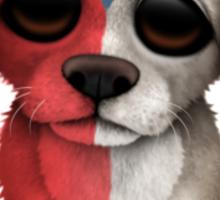 Cute Patriotic Czech Republic Flag Puppy Dog Sticker