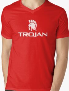 Trojan Condom T-shirt cool funny novelty college rude humor retro graphic tee Mens V-Neck T-Shirt