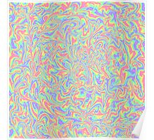 Marbled Pastel Rainbow Poster