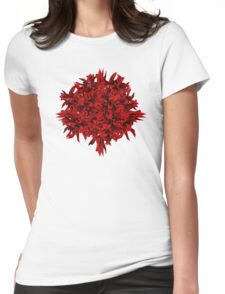 shoots | red Womens Fitted T-Shirt