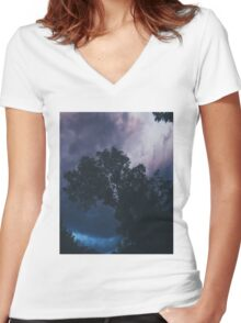 Sky after the storm  Women's Fitted V-Neck T-Shirt