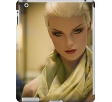 Fashion portrait of beautiful young woman doll  iPad Case/Skin