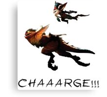 Kled - League of Legends : CHAAARGE !!! Canvas Print