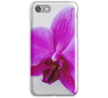 Purple Orchid On Marble I iPhone Case/Skin
