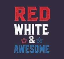 Red White and awesome Unisex T-Shirt