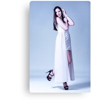 girl in a long dress Canvas Print