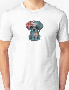 Cute Patriotic Fiji Flag Puppy Dog Unisex T-Shirt