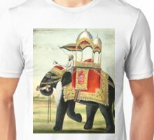 Vintage Decorated Elephant With Howdah Painting Unisex T-Shirt