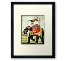 Vintage Decorated Elephant With Howdah Painting Framed Print
