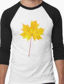 Yellow maple leaf Men's Baseball ¾ T-Shirt