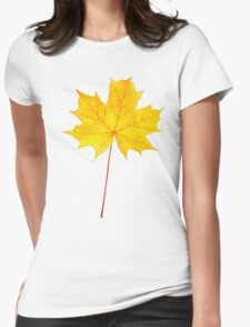 Yellow maple leaf Womens Fitted T-Shirt