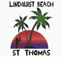 Lindquist Beach St. Thomas Kids Tee