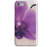 Purple Orchid On Marble II iPhone Case/Skin