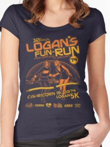 Logan's Fun-Run Women's Fitted Scoop T-Shirt