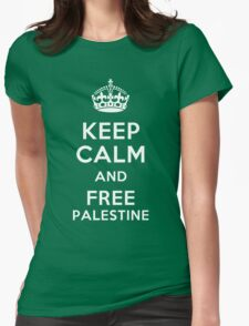 FREE PALESTINE Womens Fitted T-Shirt