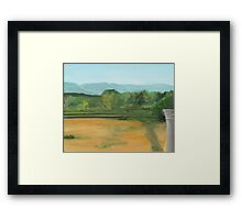 Bennington, pond view Framed Print