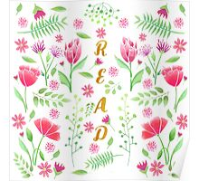 Read Floral Poster