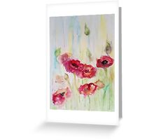 Poppies are my love Greeting Card